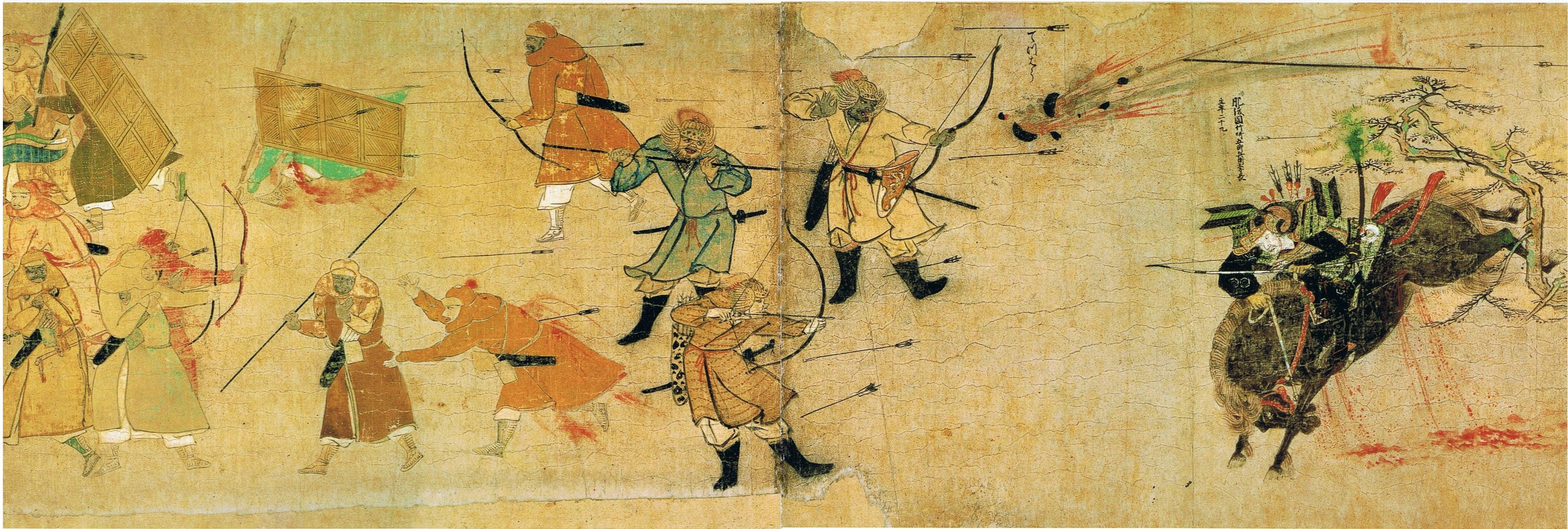 Les troupes japonaises repoussant l'invasion mongole