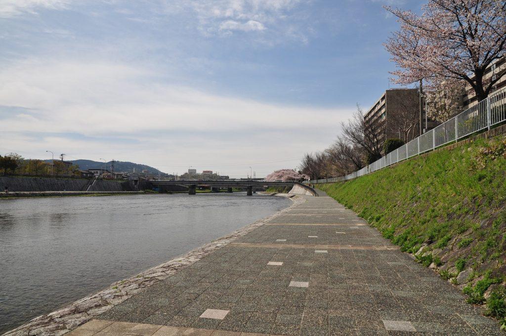 La kamogawa est le lieu idéal pour se promener à pied. Crédits : s9031015
