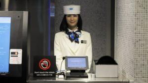 robot reception japon