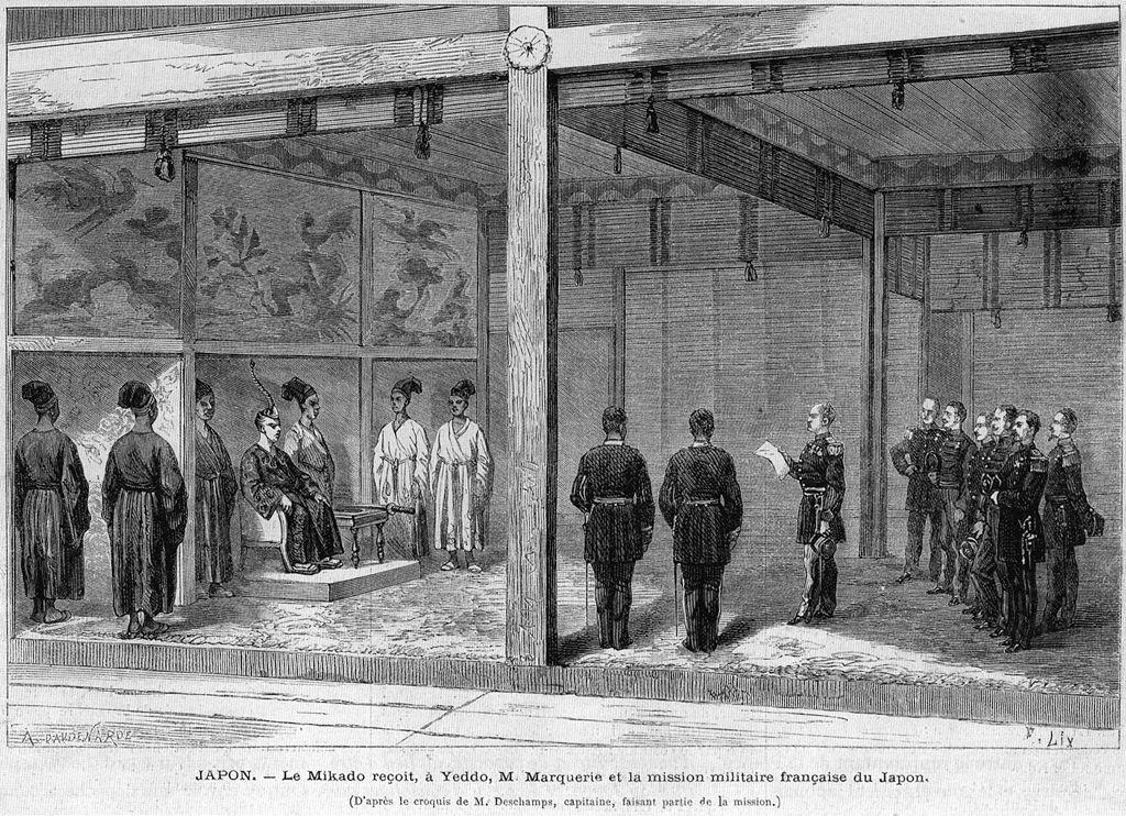 La deuxième mission française en France venue aider à moderniser l'armée du Japon