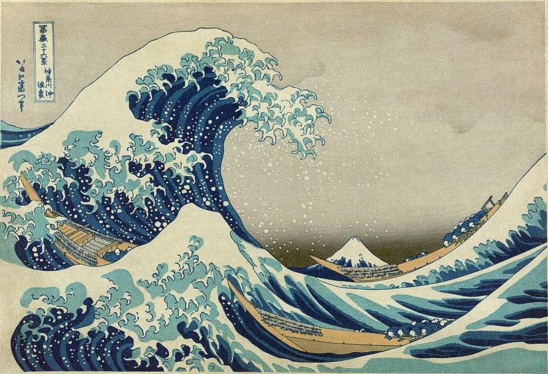 La Grande Vague de Kanagawa, Estampe d'Hokusai