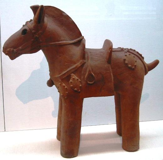 Haniwa en argile en forme de cheval 6ème siècle - Tôkyô National Museum