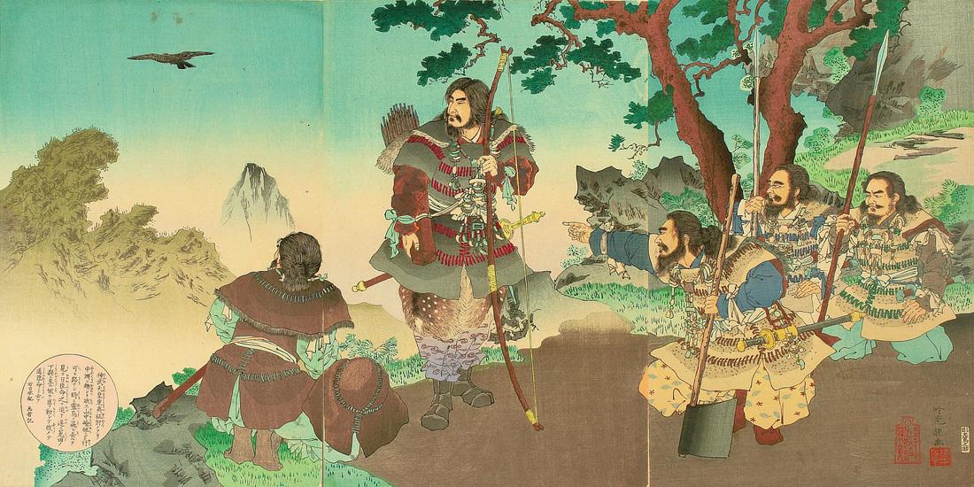 L'Empereur Jimmu et le corbeau Yatagarasu