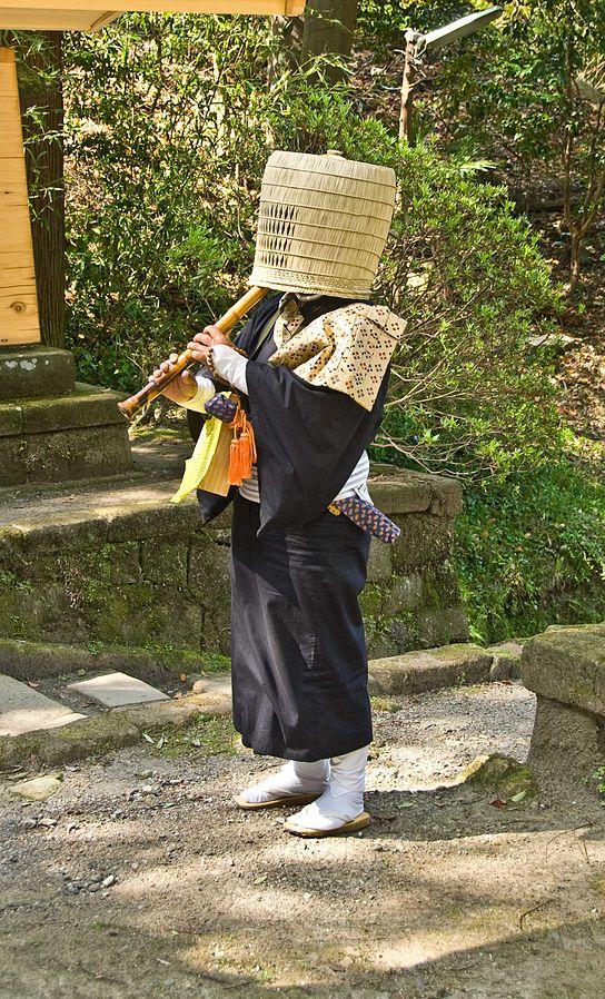 Les Komusô, le déguisement idéal pour le shinobi