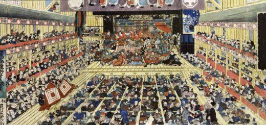 Une scène de Kabuki à la fin de l'ère Edo