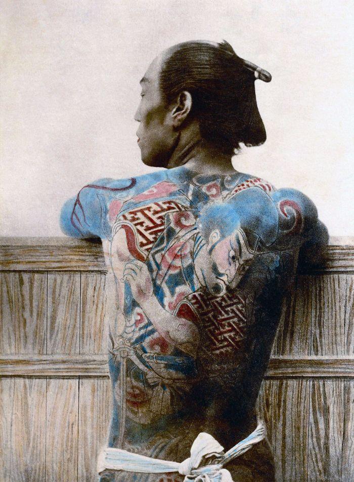 Samouraï tatoué, source : Universal History Archive