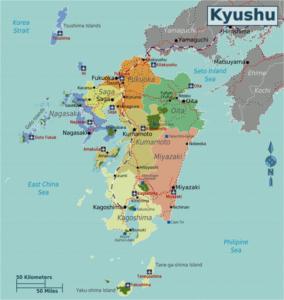 Japan_Kyushu_Map . redit : T.kambayashi