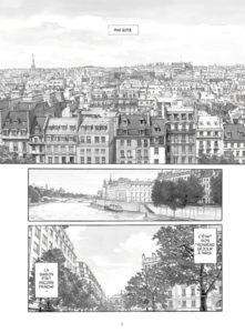 Les gardiens du Louvre de Jirô Taniguchi : vue de Paris