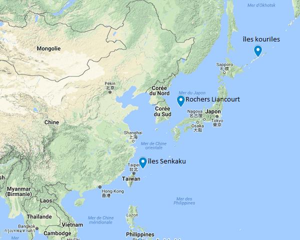 Les îles de la discorde  Japon voisins
