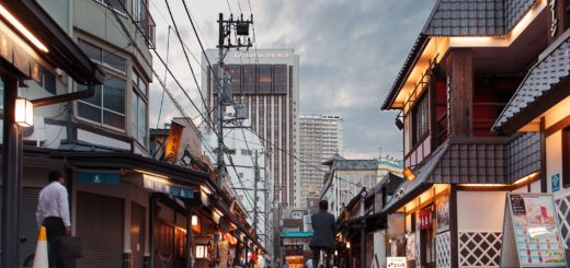 Quartier d'Asakusa, où se trouve beaucoup d'auberges / Photo Claudio Guglieri - Unsplash