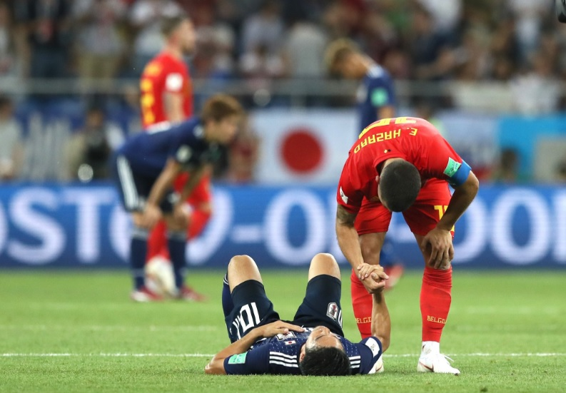 Eden Hazard et Shinji KAGAWA