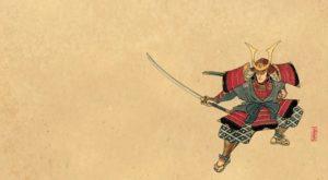 estampe samouraï