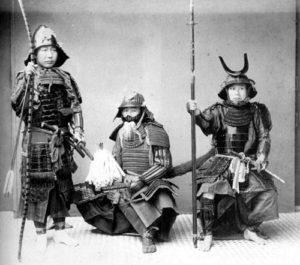 samouraïs dans l'attente du combat