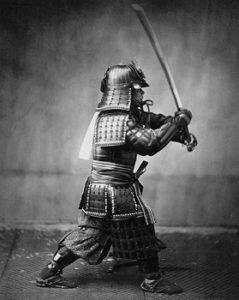 Samouraï en tenue officielle