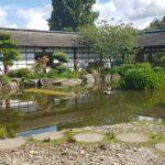Île de Versailles - maison de style japonais entourée d'eau et d'arbres