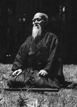 O-sensei en pleine méditation