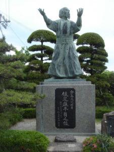 Statue d'O-sensei à Tanabe, sa ville natale