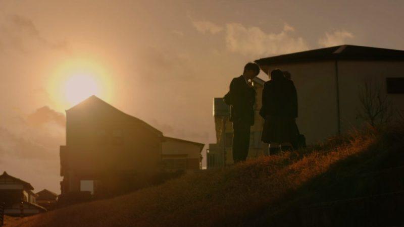 Une scène emprunt de romantisme entre Kaga-kun et Ayumi