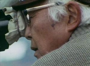 Ishiro Honda sur le tournage de Kagemusha dans A.K Akira Kuosawa de Chris Marker.