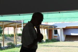 Claude Luzet en pleine réflexion, kyuodojo de Noisiel