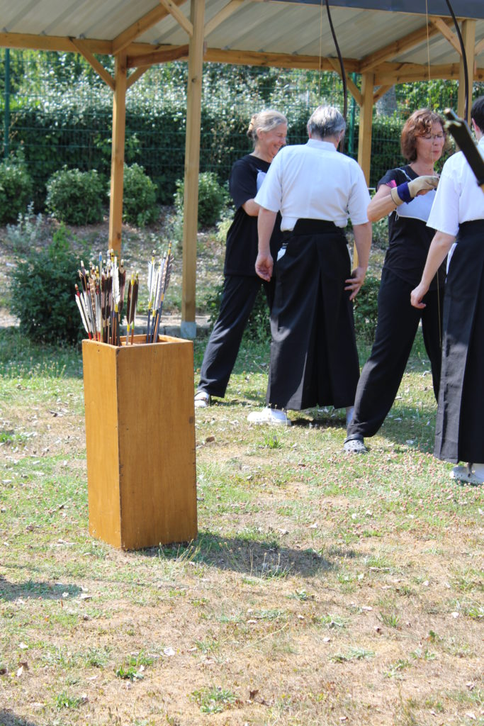 Stage de découverte du kyudo, kyudojo de Noisiel