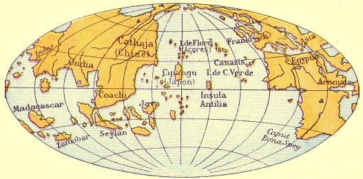 Le monde connu d'après le globe de Behaim