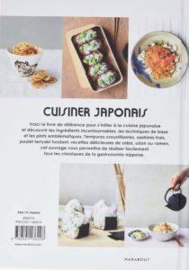 Cuisiner japonais : dos du livre
