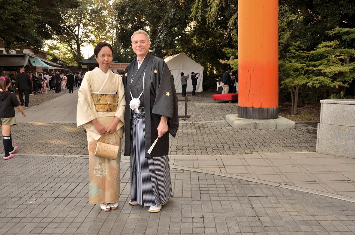 Michel Guillemot et son épouse Mariko Inoue