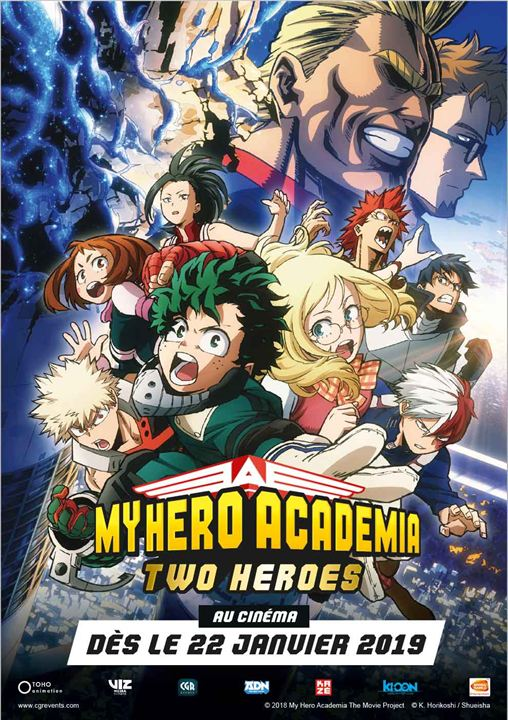 MY HERO ACADEMIA : TWO HEROES affiche