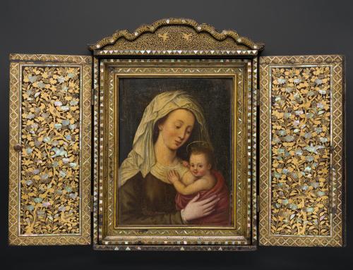 Ecole de Giovanni Niccolo : la Vierge et son Enfant