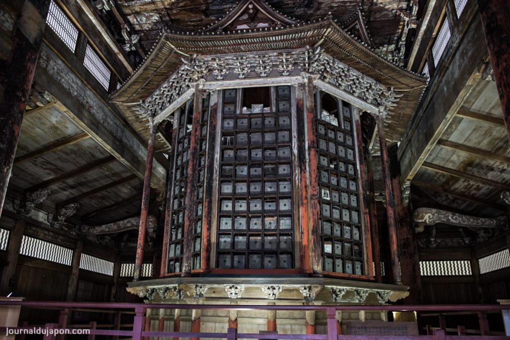 La bibliothèque à Sutras du Miidera.