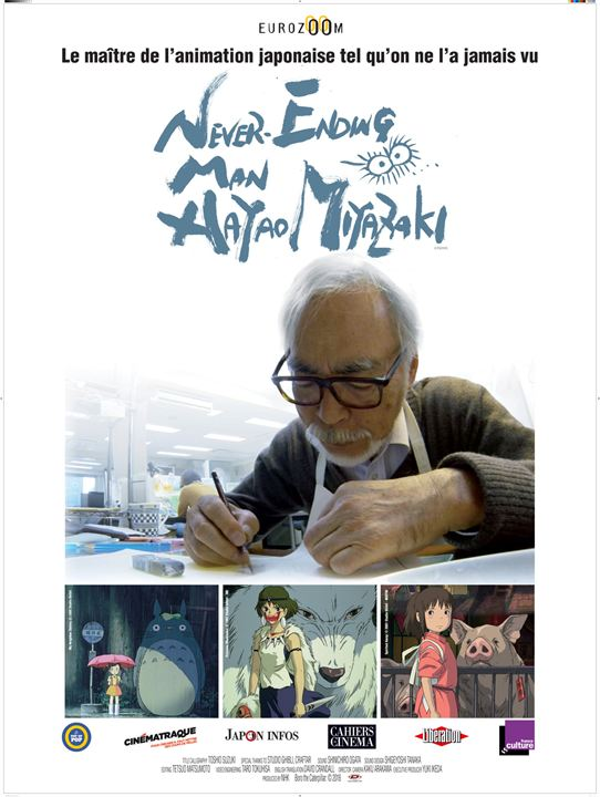 Never ending man Hayao Miyazaki affiche
