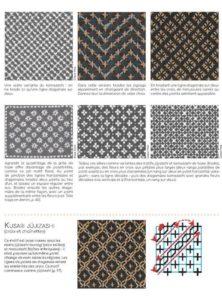 Le guide de la broderie sashiko : page intérieure, exemples de motifs sashiko