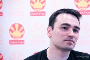 Romain Lemaire lors de son interview à Japan Expo 2018