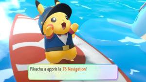 Capture de la TS navigation dans le jeu Pokémon Let's GO