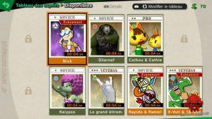 Tableau des esprits - Super Smash Bros Ultimate - Nintendo ®2018
