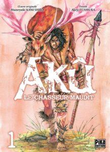 Couverture du tome 1 de Aku le chasseur chez Pika