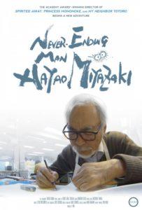 Affiche du documentaire Never Ending Man Hayao Miyazaki