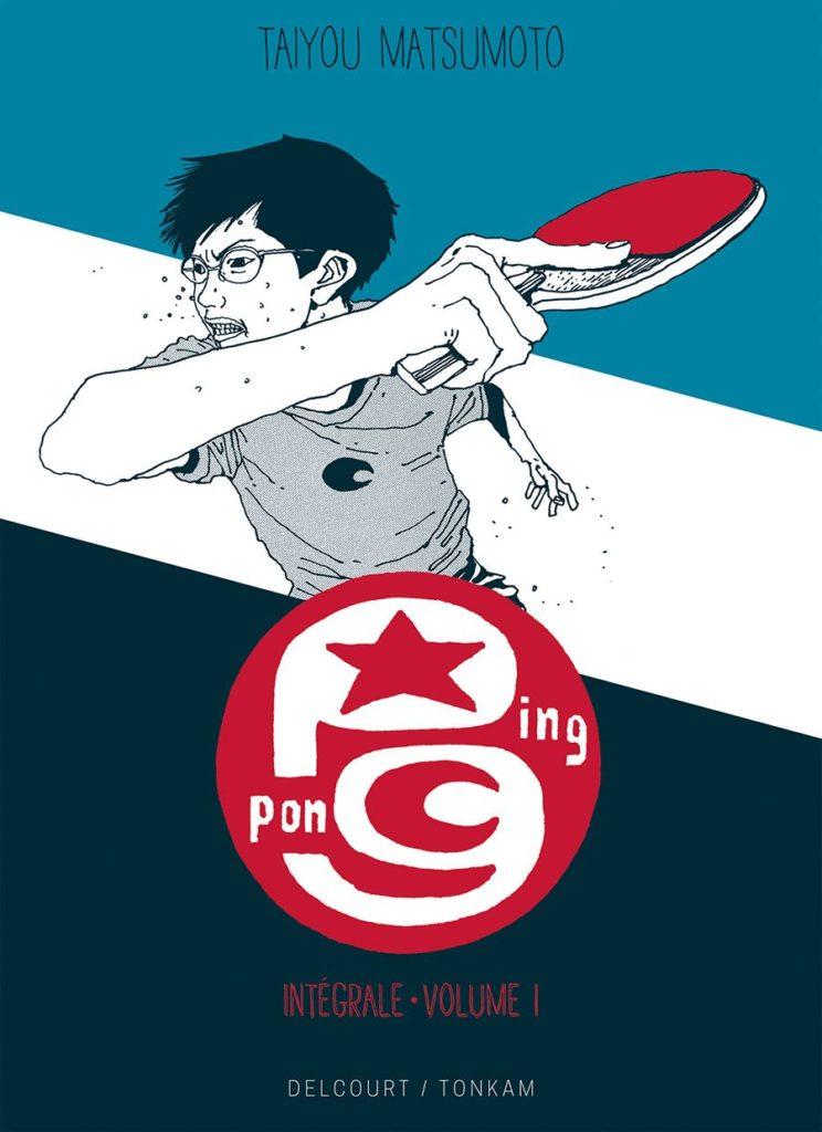 Couverture du tome 1 de Ping Pong éd prestige chez Delcourt/Tonkam