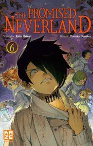 Couverture du tome 6 de The Promised Neverland chez Kazé Manga