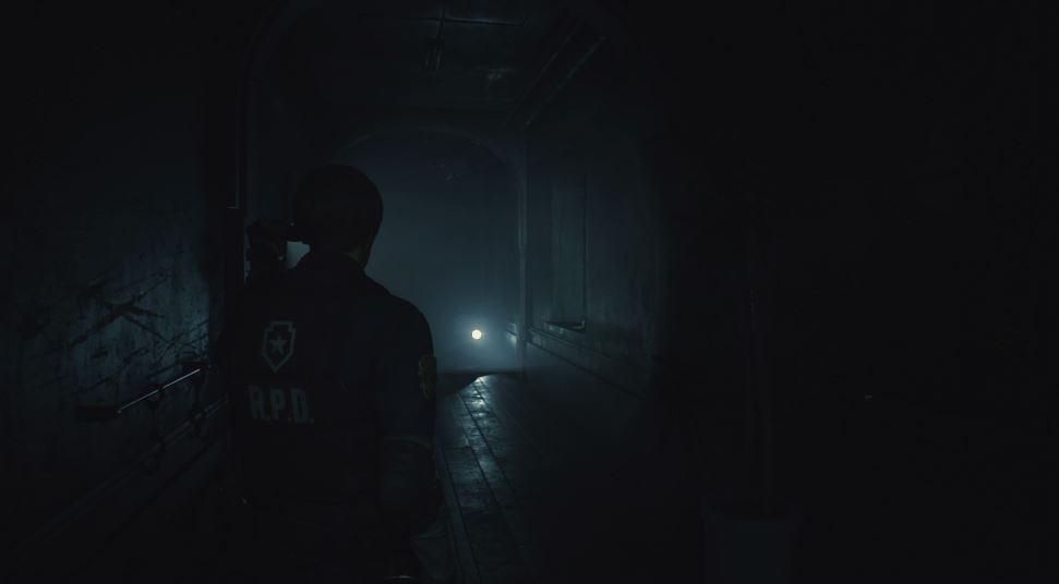 Leon couloir resident evil 2