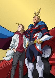 Un des côtés de la jaquette du coffret dvd/bluray du film My Hero Academia Two Heroes
