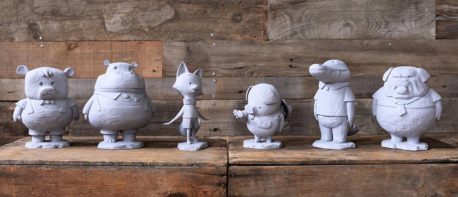 Sculptures des personnages ©Tonko House