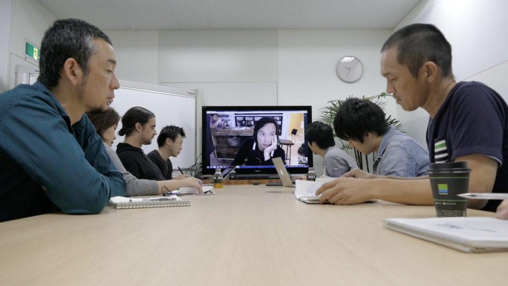 Visio-conférence entre Berkeley et Tokyo ©Tonko House