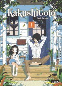 Couverture du tome 1 de Kakushigoto chez Vega Editions