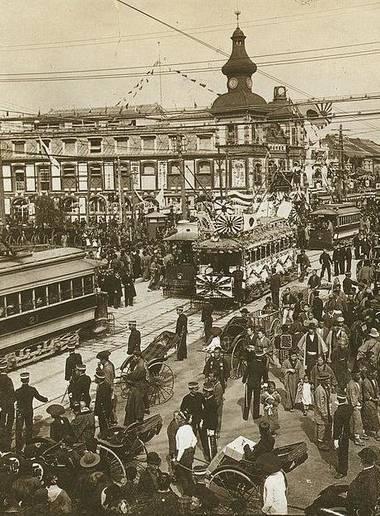 Rue à Tokyo en 1905