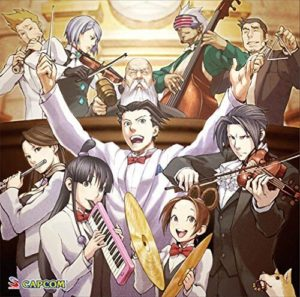Ace Attorney instruments musique album jazz orchestra characters artwork