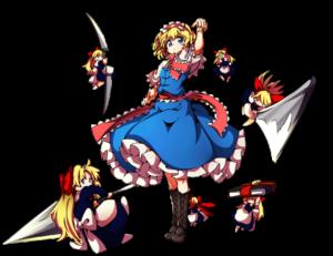 baba seimaijou Alice Margatroid Touhou ZUN fanart fighting