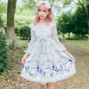 sweet lolita alice modèle model fashion wonderland ribbon dress kawaii cute japanese