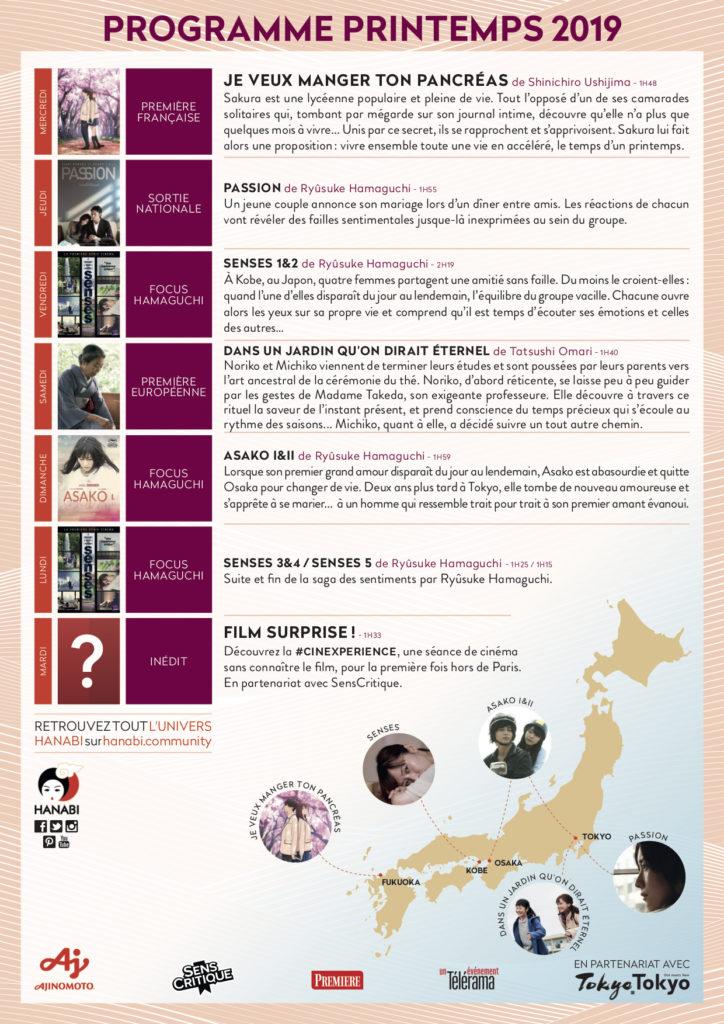 Les saisons des Hanabi programme